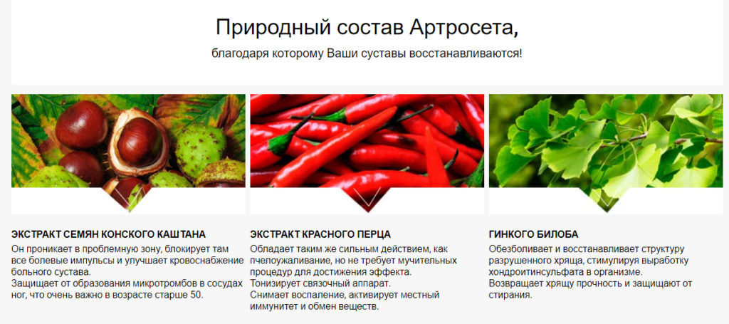 Таблетки Артросет (Artroset) для суставов состав