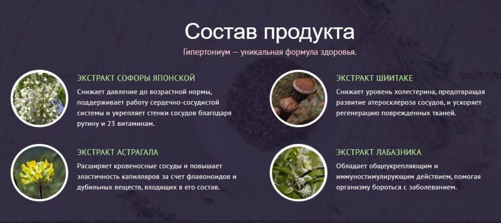 Лекарственный препарат Гипертониум состав