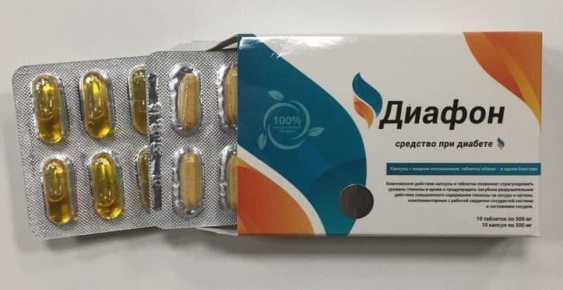 Таблетки Диафон от диабета оригинал