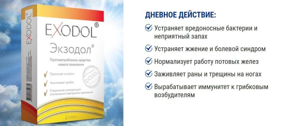 Препарат Экзодол (Exodol) от грибка день