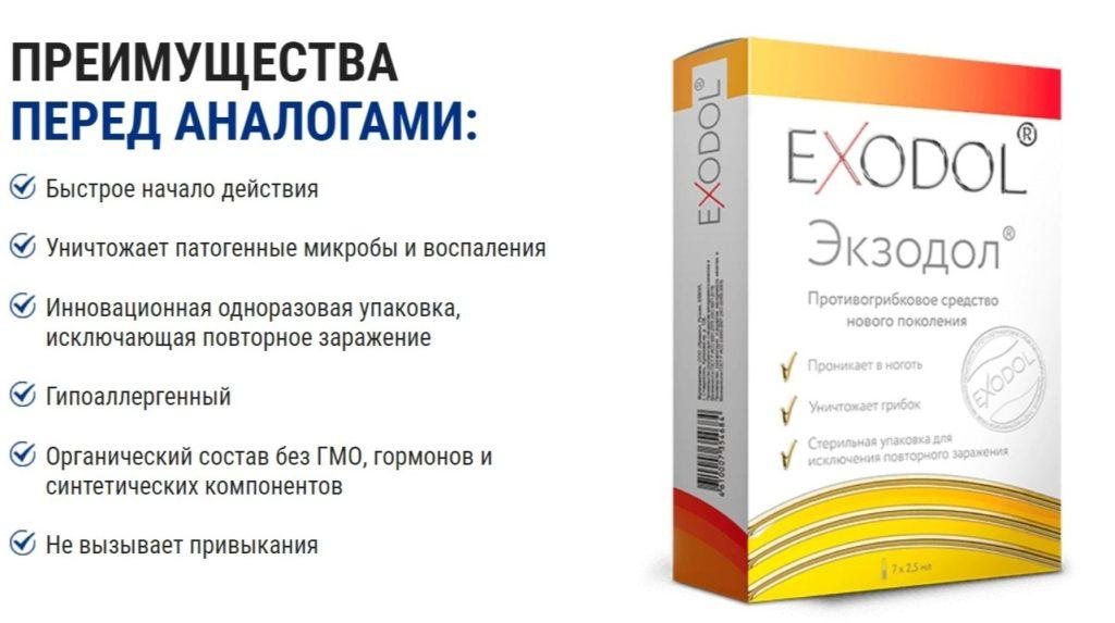 Препарат Экзодол (Exodol) от грибка аналоги