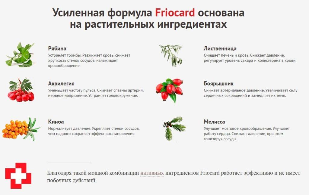 Фриокард (Friocard) для чистки сосудов состав