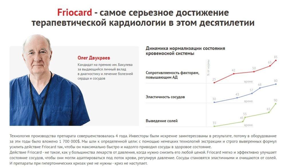 Фриокард (Friocard) для чистки сосудов отзывы врачей