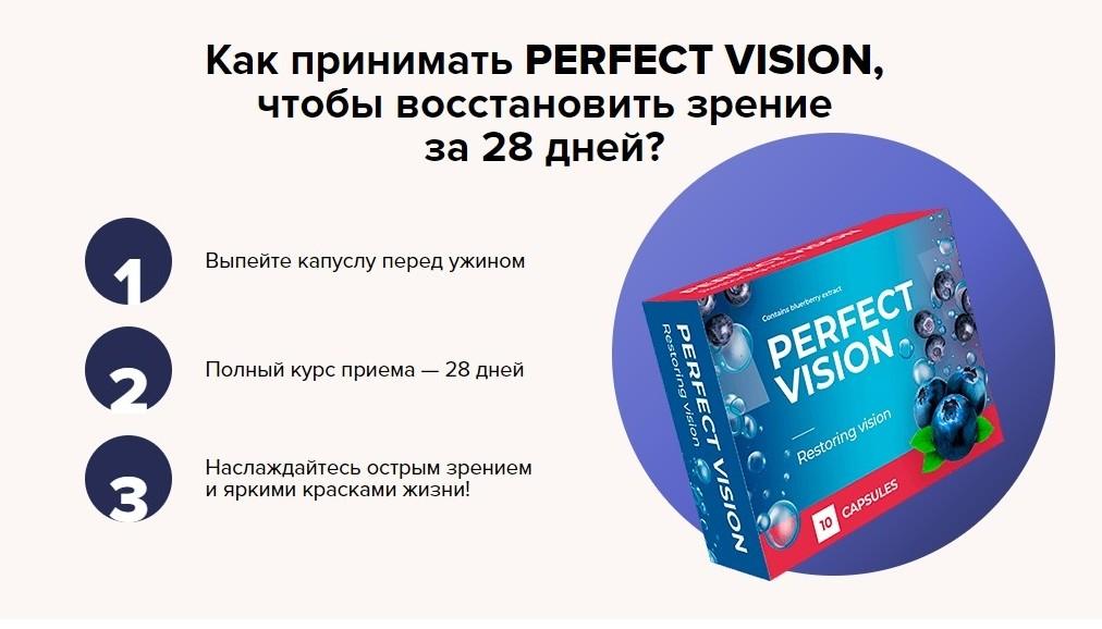 Капсулы для зрения Perfect Vision инструкция