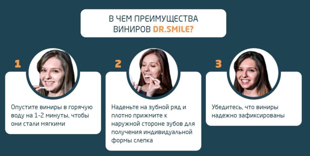 Виниры для зубов Dr. Smile (Доктор Смайл) инструкция